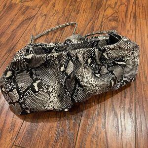 NEW snakeskin clutch